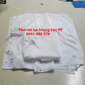 Tấm vải lọc khung bản PP lọc chất thải bùn
