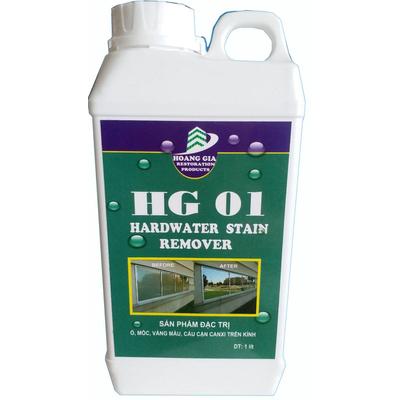 Tẩy cáu cặn canxi, nước cứng, loang trắng, bảy màu trên kính HG-01 HARDWATER STAIN REMOVE 1000ML