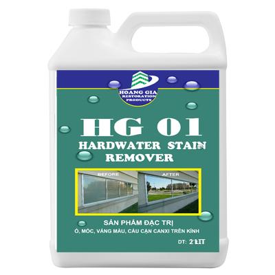 Tẩy cáu cặn canxi, nước cứng, loang trắng, bảy màu trên kính HG-01 HARDWATER STAIN REMOVE 2000ML