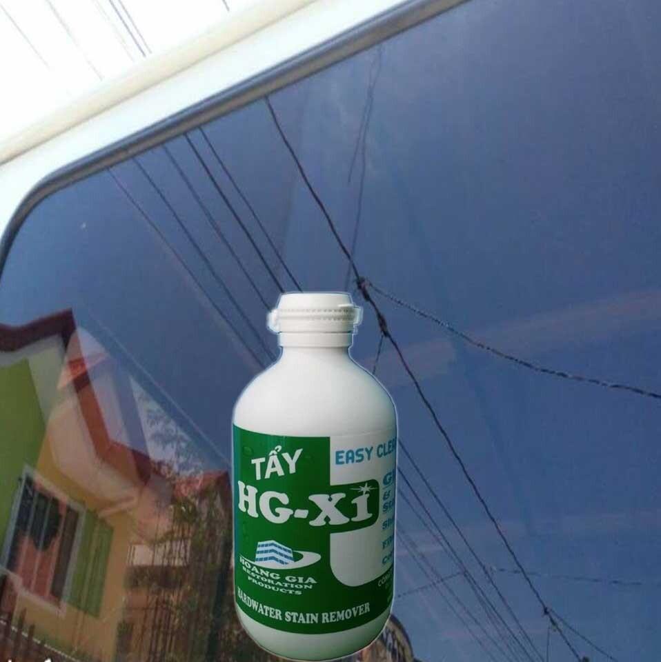 Tẩy ố mốc kính loang màu, bẩy màu trên kính HG X1 HARDWATER STAIN REMOVER for Car 250 ML
