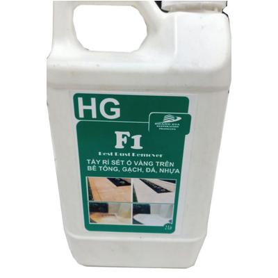 Tẩy rỉ sét ố vàng sàn bê tông, nền gach tường. HG F1 concrete rust remover 2 lít