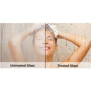 Tẩy sạch vách kính nhà tắm ố mốc