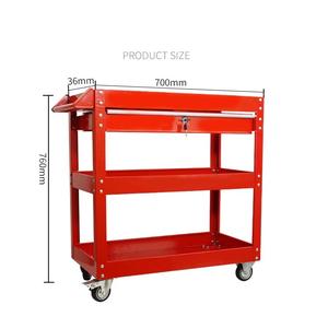 Xe đựng dụng cụ 3 tầng có ngăn kéo, xe đề đồ nghề 3 tầng có ngăn kéo