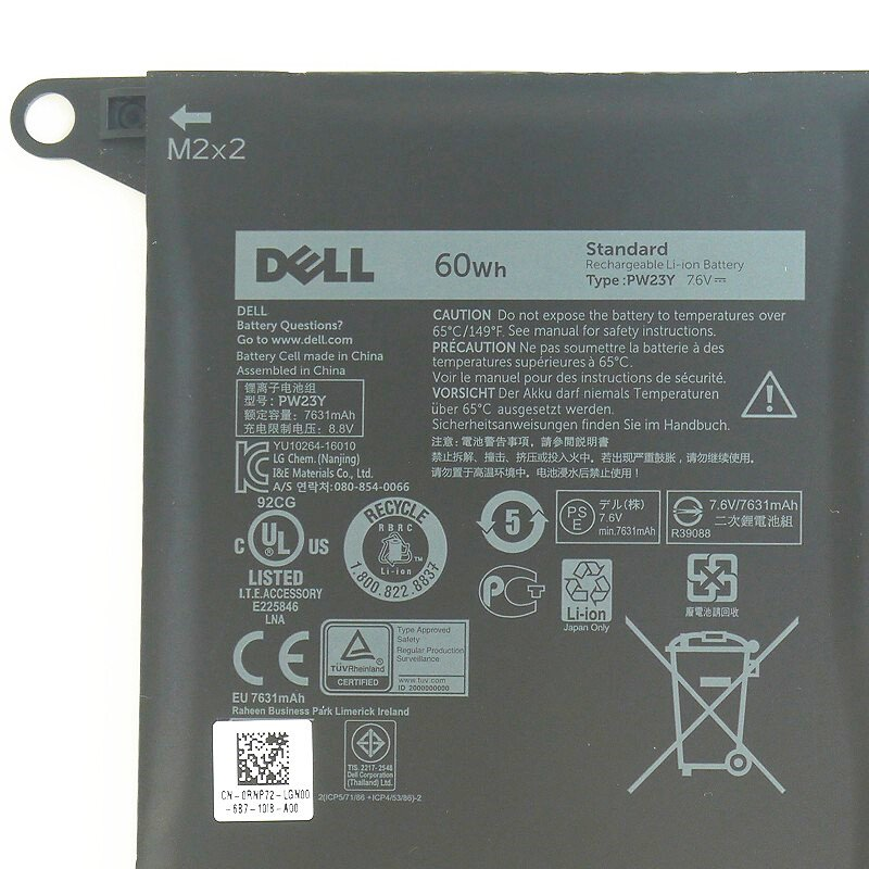 Pin (battery) Dell XPS 13 9360 type PW23Y chính hãng