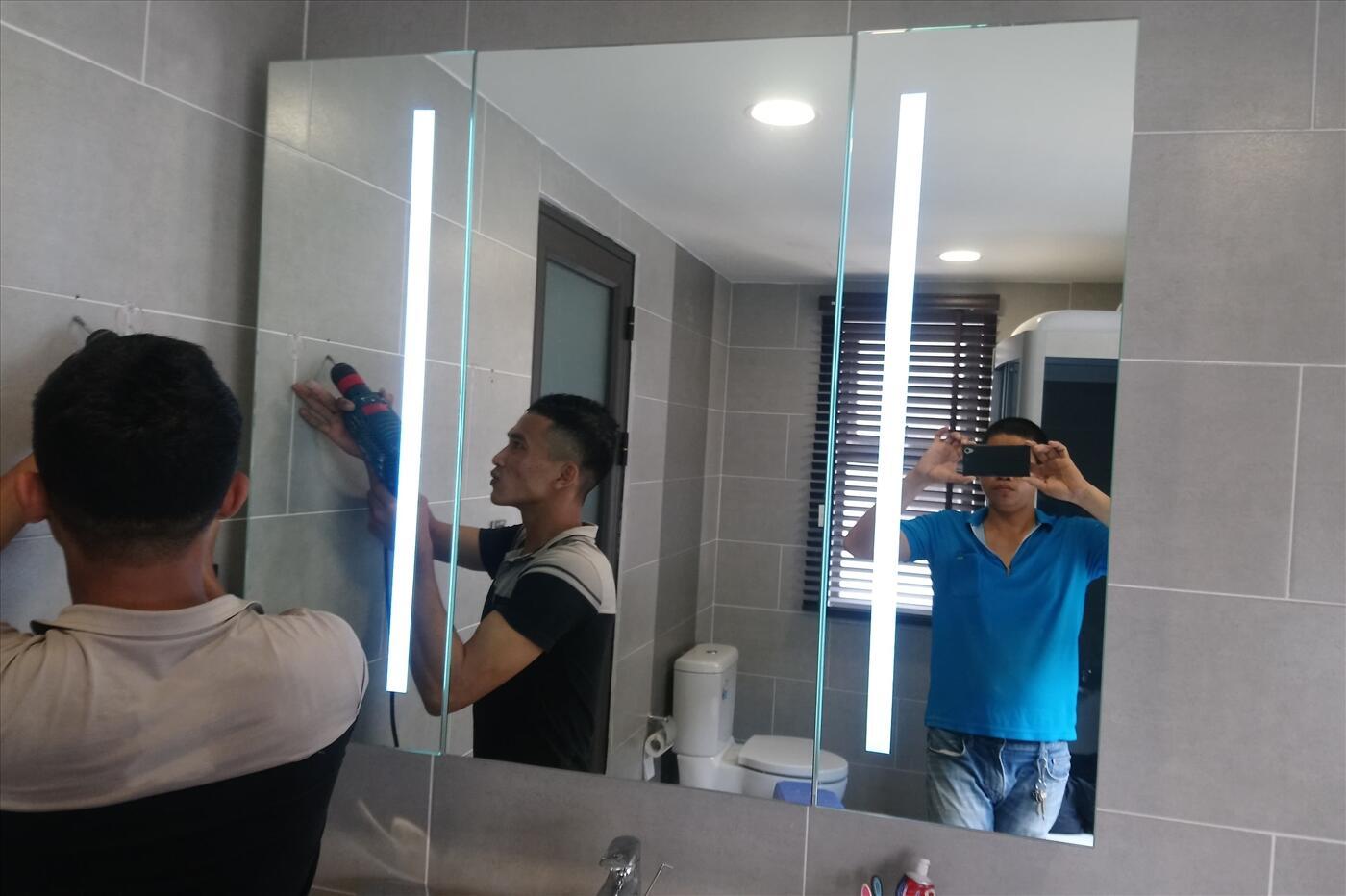 Tủ gương đèn led chữ nhật Citybuilding CBJ 23W