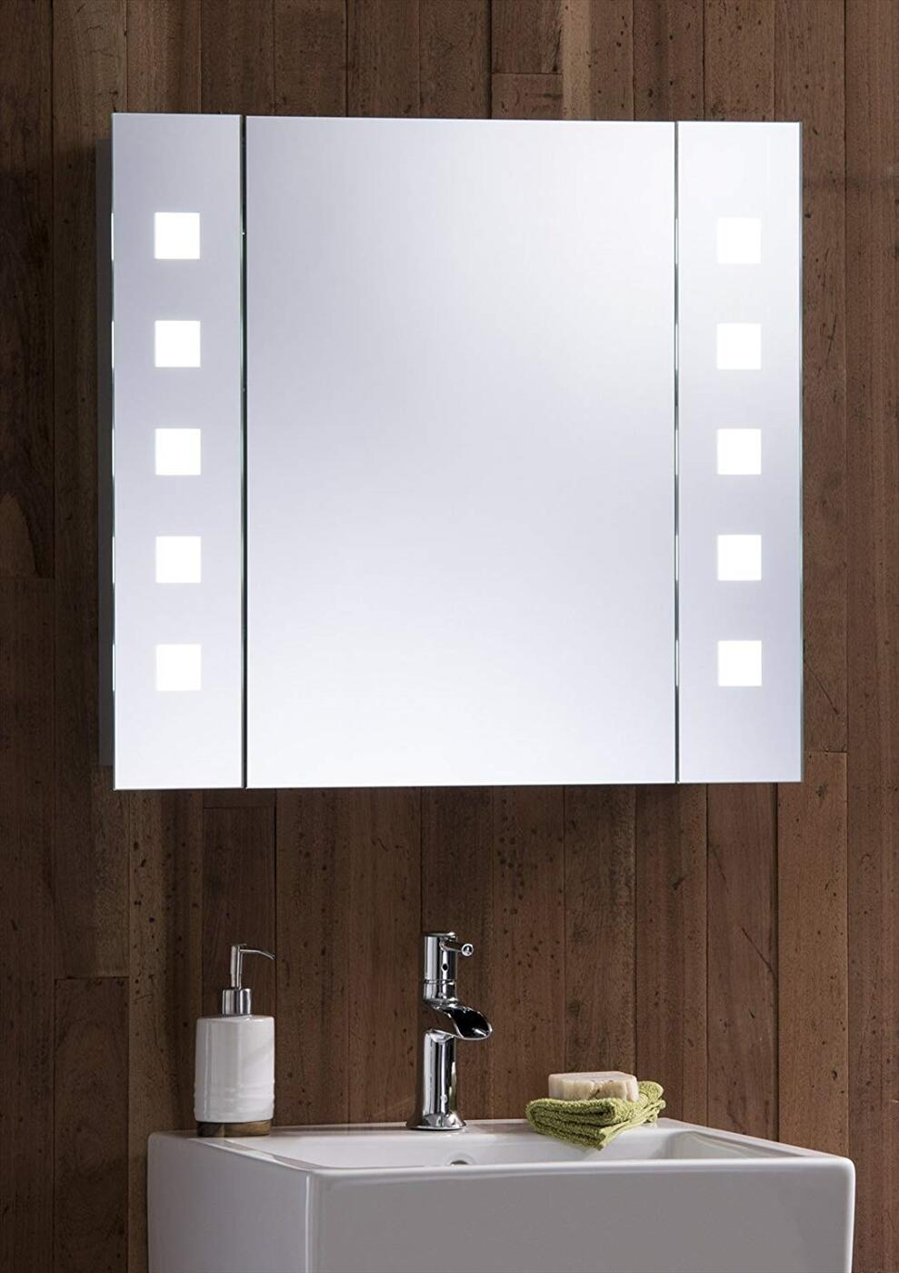 Tủ gương đèn led chữ nhật Citybuilding CBJ68LA