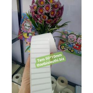 Giấy in tem nhiệt 50*10mm cuộn 30m