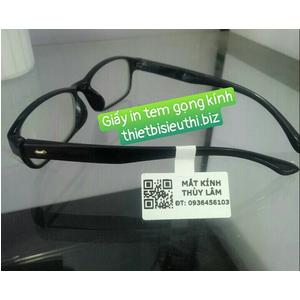 Giấy in tem kính mắt (Giấy in tem gọng kính mắt) khổ 40*21mm