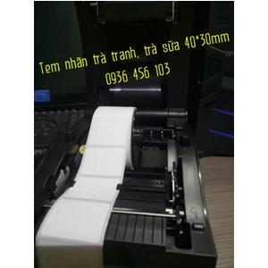 Máy in tem nhãn trà sữa Xprinter XP 350B