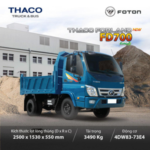 THACO FORLAND FD700 - 2,9 m3 ~ 3.49T
