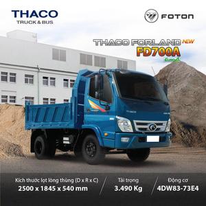 THACO FORLAND FD700A - 2,9 m3 ~ 3.49T phanh hơi