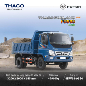 THACO FORLAND FD990 - 4,99T ~ 4,1 m3