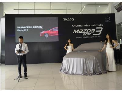 Thaco ra mắt mẫu xe Mazda3 - 2017 hoàn toàn mới tại Nghệ An
