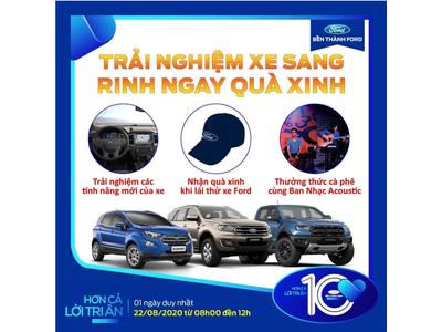 Tham dự Lái thử xe Ford tháng 08-2020 I Ford Bến Thành Hotline 093 7983 777