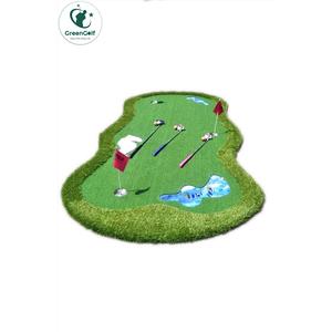 Thảm Tập Putt Golf Cao Cấp Đặc Biệt kích thước 1.5mx3m, tạo hình hồ nước, bụi cỏ, cát trắng