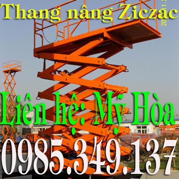 Thang nâng ziczac 6m giá rẻ toàn quốc Model SJY0.3-6