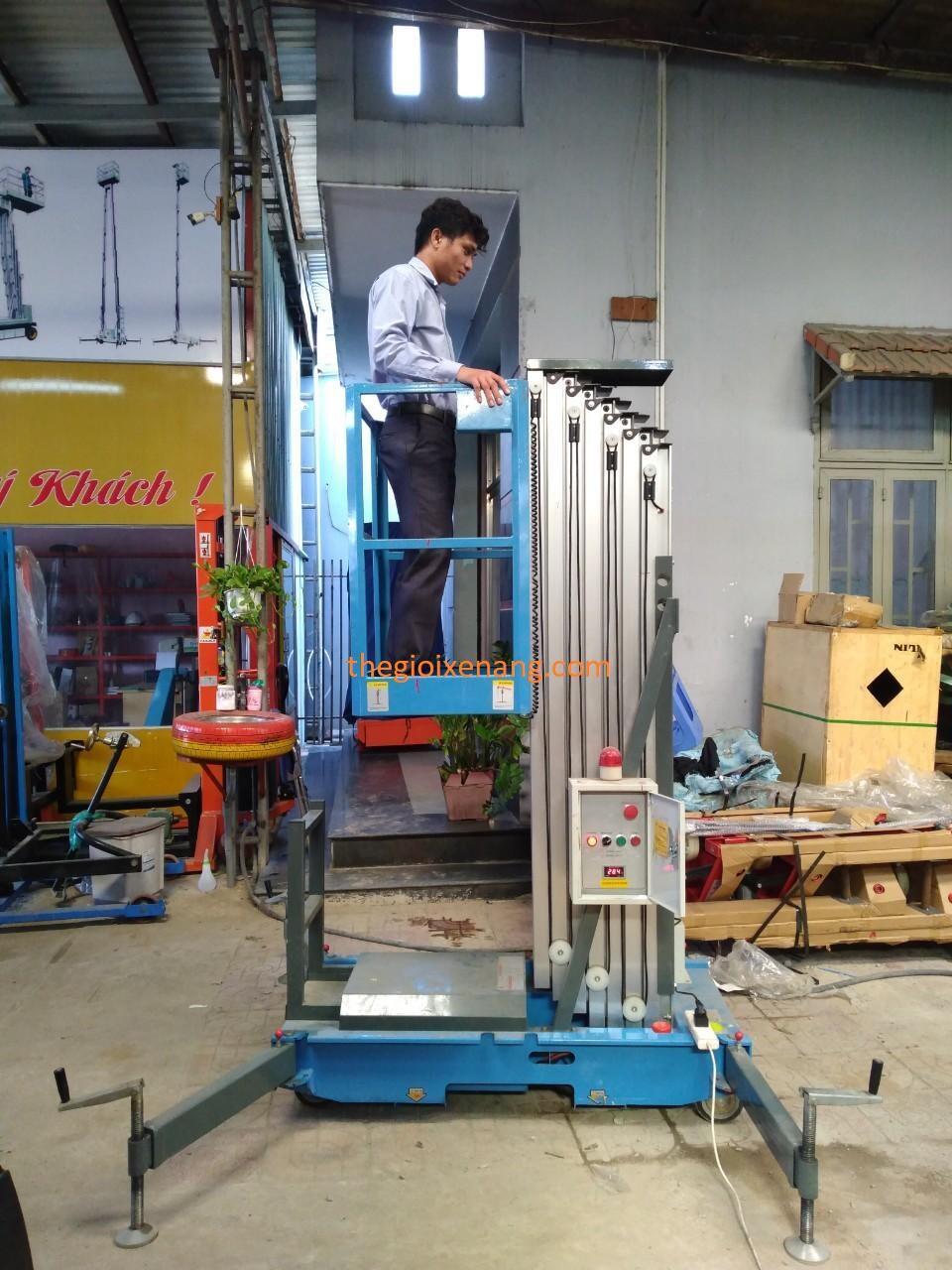 xe nâng người 10 mét , xe nâng người đơn , thang nâng , xe nâng làm việc trên cao