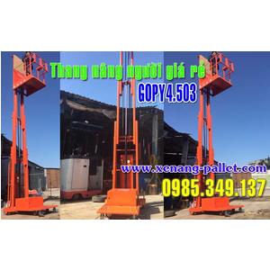 Thang nâng người 200kg cao 3.3m GOPY3.302 Nhập khẩu chính hãng