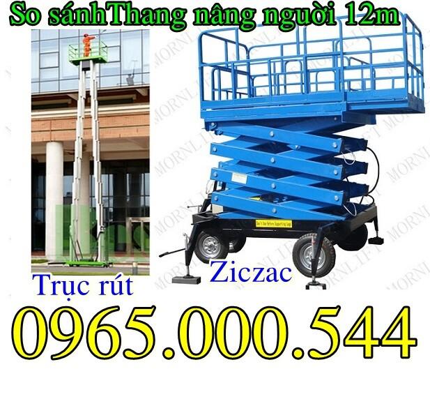 So sánh sự chênh lệch về giá của thang nâng người 12m