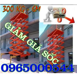 Thang nâng người 300 kg- 6m, thang nâng người ziczac 6 m