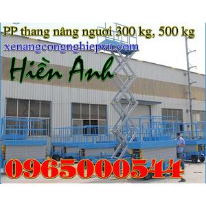 Thang nâng người 500 kg - 14M, thang nâng người 14M giá rẻ
