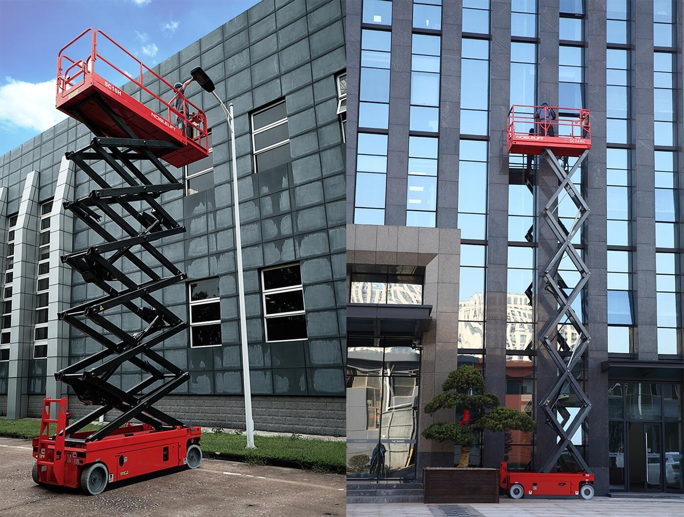 xe nâng người tự hành , xe nâng người 12 mét , thang nâng người thi công , hình ảnh xe nâng người tự hành