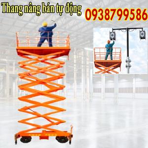 Thang nâng người ziczac 11m tải 300kg - bán tự động
