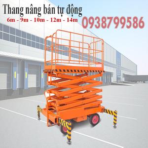 Thang nâng người ziczac 14m tải 300kg - bán tự động