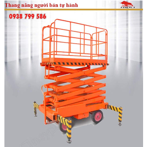 Thang nâng người ziczac 14m tải 500kg - bán tự động