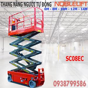 Thang nâng người ziczac 6m tải 230kg tự hành của Noblelift