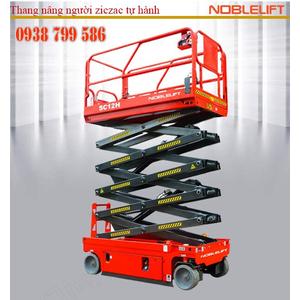 Thang nâng người ziczac 8m tải 230kg tự hành của Noblelift