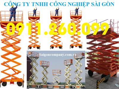 Mobile scissor lift table 300 kilogamter, 9 metter