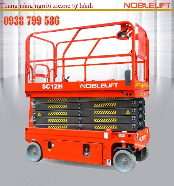 Thang nâng người ziczac 12m tự hành - sức nâng 320kg của Noblelift
