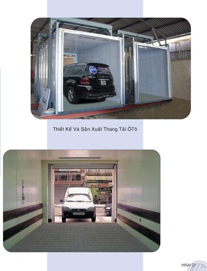 Thang tải ô tô