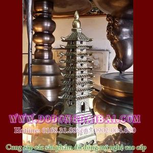 Tháp văn xương 9 tầng cao 18cm bằng đồng