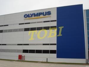 Thi công bảng tên Công ty OLYMPUS