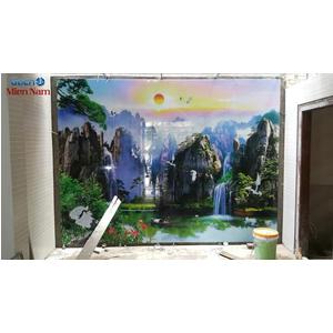 Thi công gạch ốp tường sơn thủy