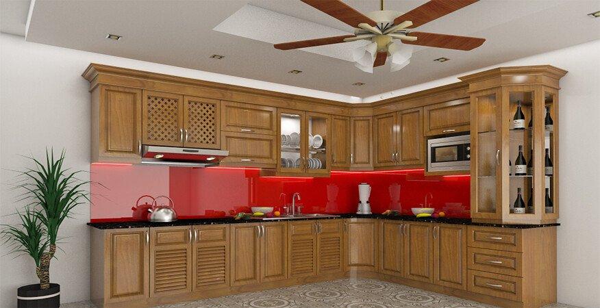 Thi công kính màu ốp bếp trang trí Huyện Phổ Yên, Thái Nguyên