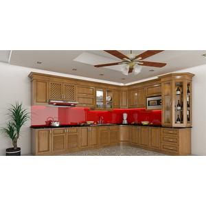 Thi công lắp đặt kính màu ốp bếp tại Quận 11, Tp HCM