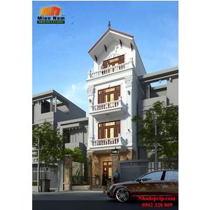 Thi công nhà phố cổ điển anh Lộc Quận 8
