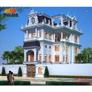 Thiết kế Thi công biệt thự cổ điển Anh Hùng Tây Ninh