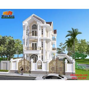 Thiết kế thi công biệt thự cổ điển Anh Khanh Đồng Tháp