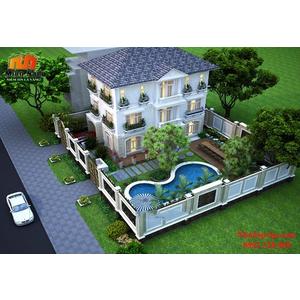 Thiết kế thi công biệt thự vườn chị Trang Tiền Giang