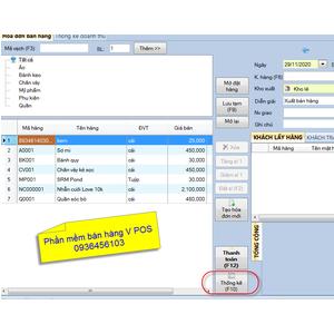 Thống kê doanh thu trong phần mềm bán hàng V POS