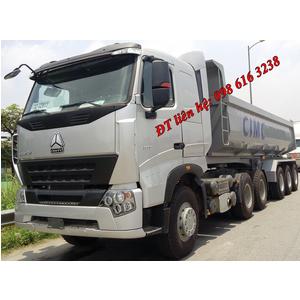 Thông số KT Mooc Ben CIMC 24 m3, tải trọng 30.850 kg nhập khẩu nguyên chiếc từ Trung Quốc giá tốt