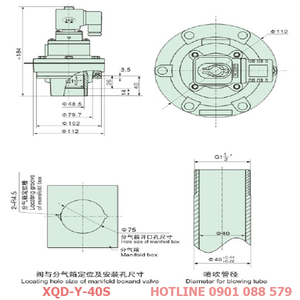Van giũ bụi XQD-Y-40S loại khớp nối ren
