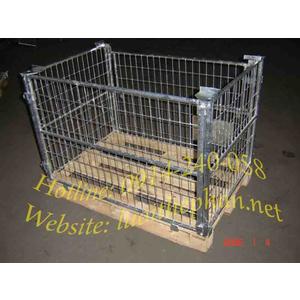 Thùng chứa hàng dùng với pallet gỗ