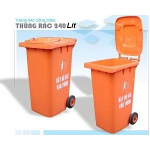 Thùng đựng rác 240 Lits - HDPE