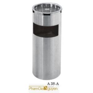Thùng đựng rác gạt tàn Inox A35-A