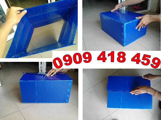 Thùng nhựa carton đáy xếp tự động